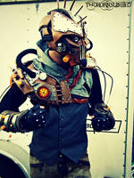 Steam Freak Biopunk/Steampunk light up armor by TwoHornsUnited