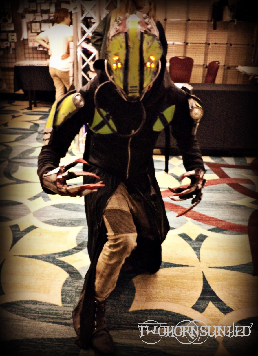 The ''Glitch'' v1.0 Cyberpunk cosplay by TwoHornsUnited