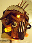 Steam Freak LIGHT UP Steampunk helmet