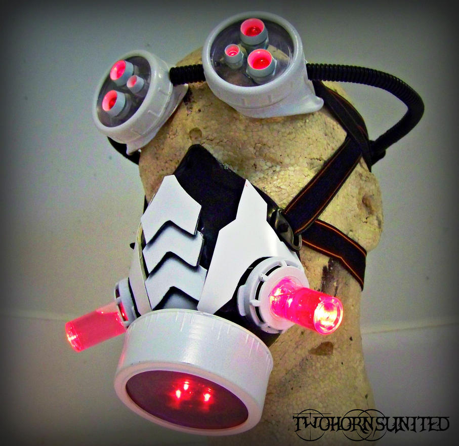ArachnoPunk Light up DJ/raver mask and goggles set by TwoHornsUnited