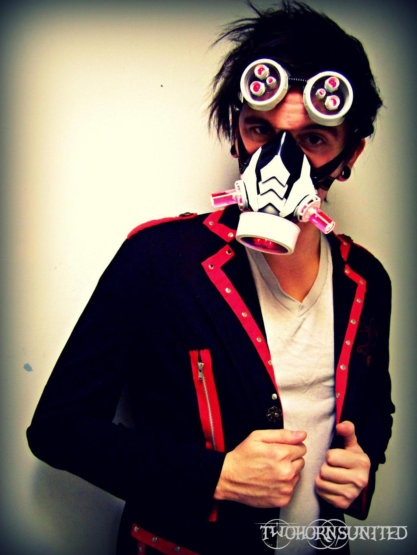 ArachnoPunk Light up DJ/raver mask and goggles set by TwoHornsUnited