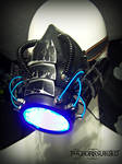 The Leviathan cyber LED rave gas mask