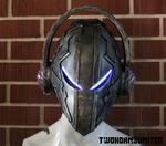 Alien DJ cyberpunk helmet
