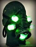 The Neuromancer Cyberpunk LED DJ gas mask