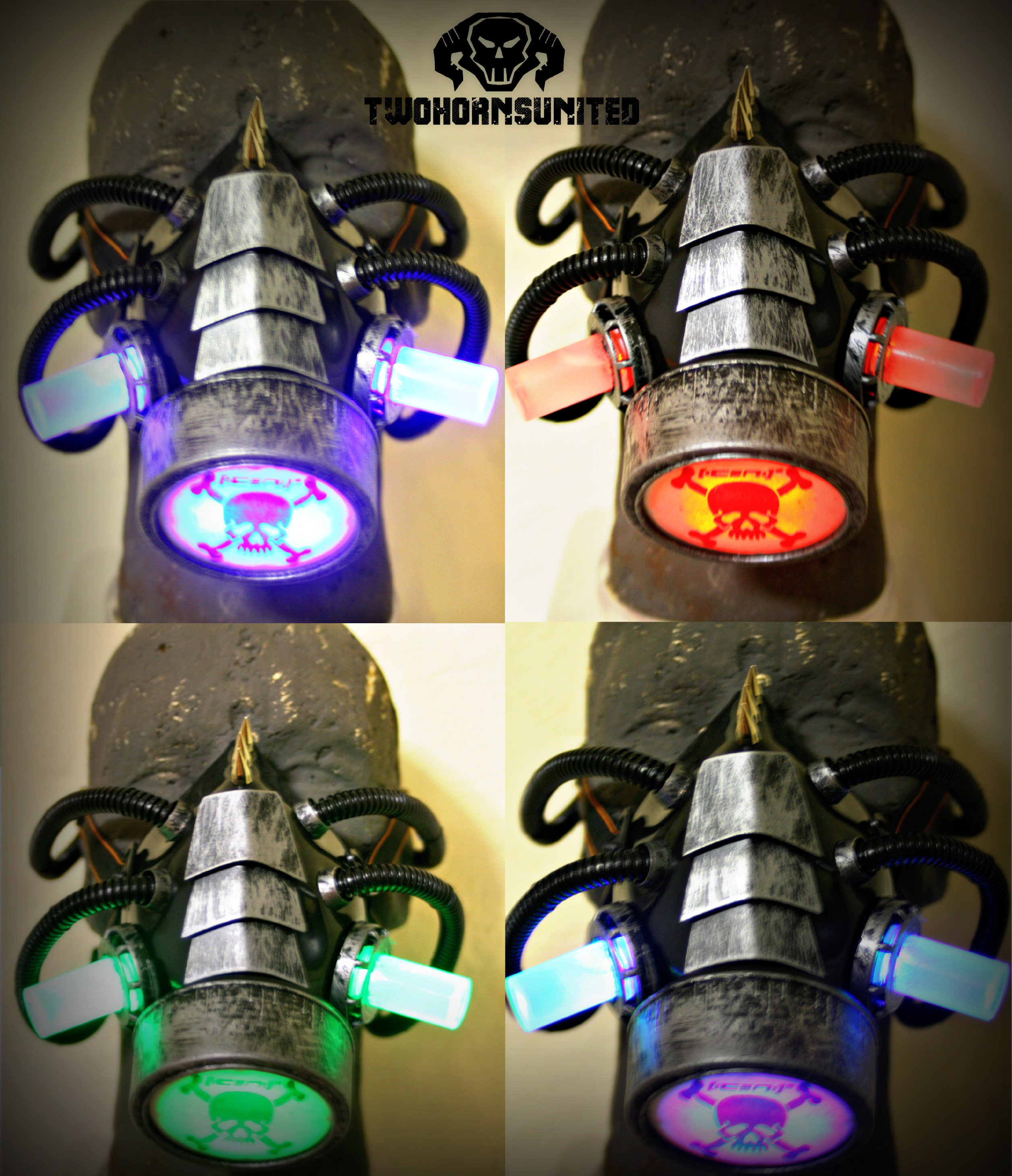 The Transmutation color changing cyberpunk gasmask by TwoHornsUnited