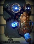 The Harvester wasteland teslapunk mask/goggles set