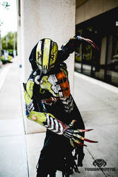 The Glitch rogue reaper LIGHT UP cyberpunk cosplay by TwoHornsUnited