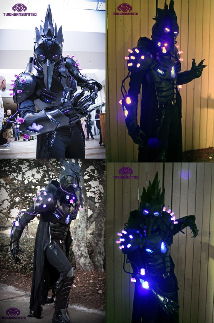The Black Plague dark futuristic Light up costume by TwoHornsUnited