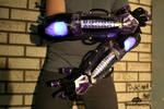 The K-WIR3 light up strobing cyberpunk gauntlets