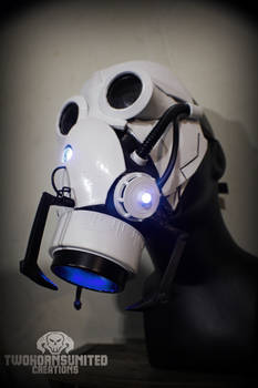 The Aperture Science Portal Gun Gas Mask Mk IV