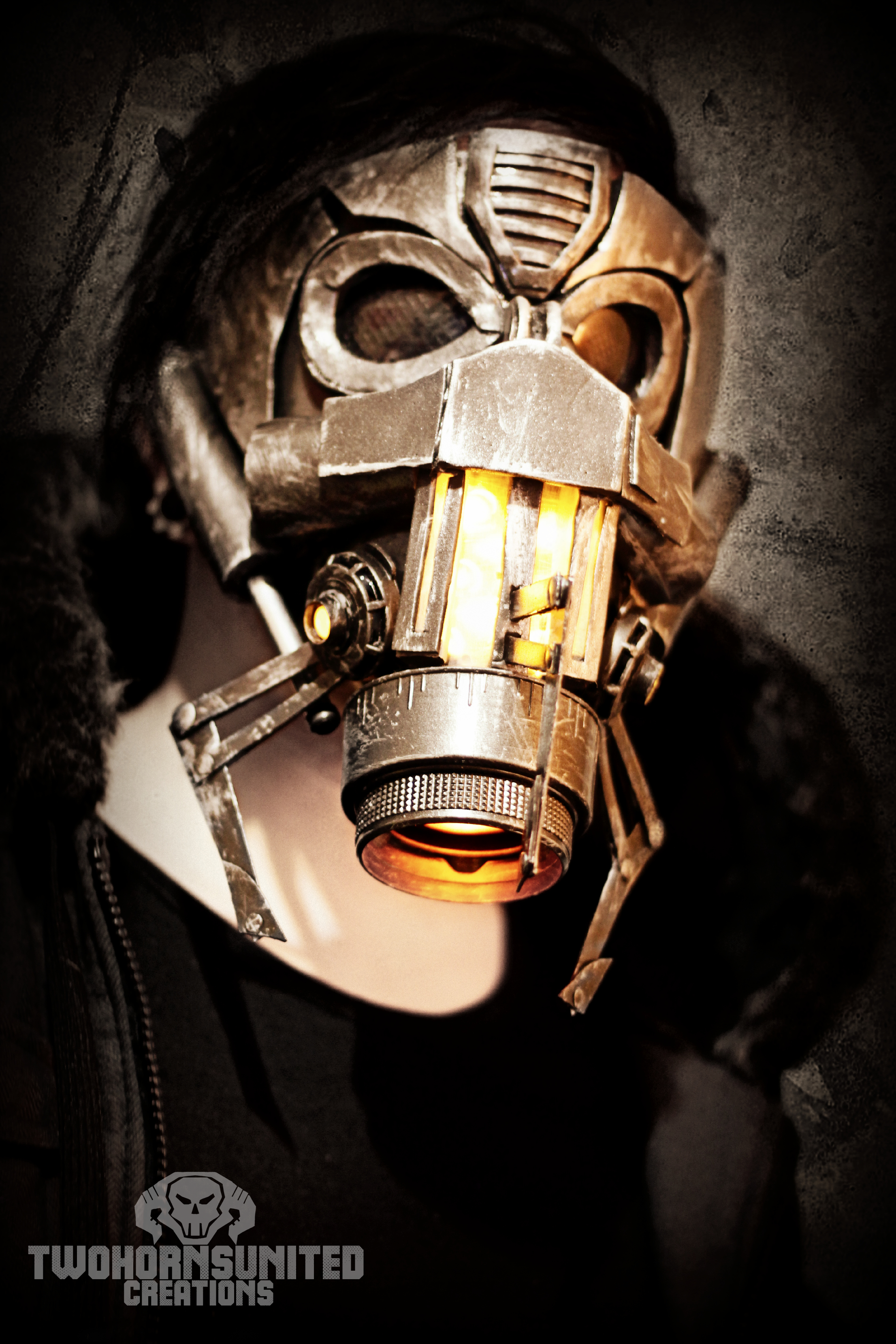 how to make a light up gas mask