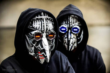 Cyber DJ Plague Doctor Masks by TwoHornsUnited