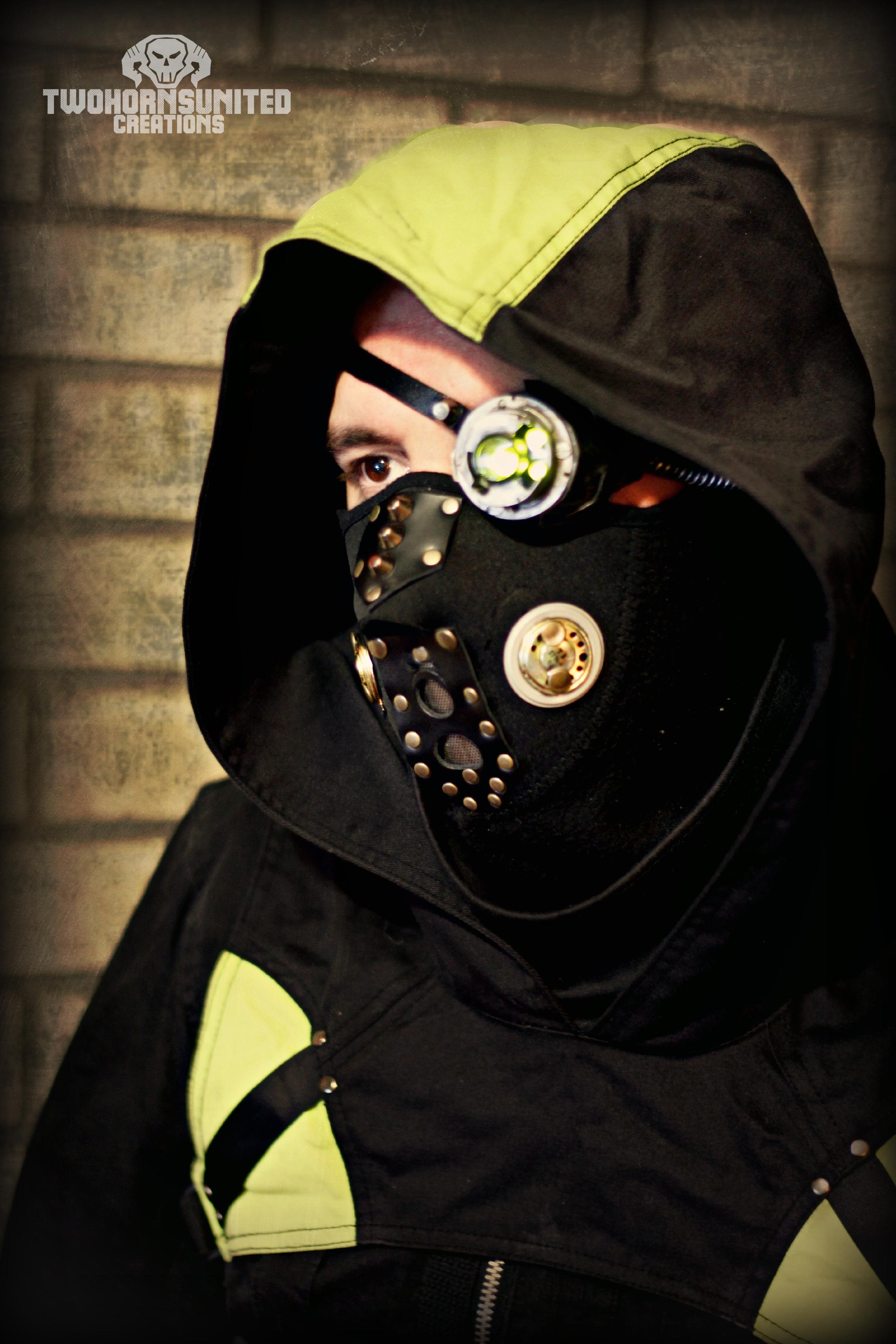 Digital Hedonist Cyberpunk LED monocle + mask by TwoHornsUnited