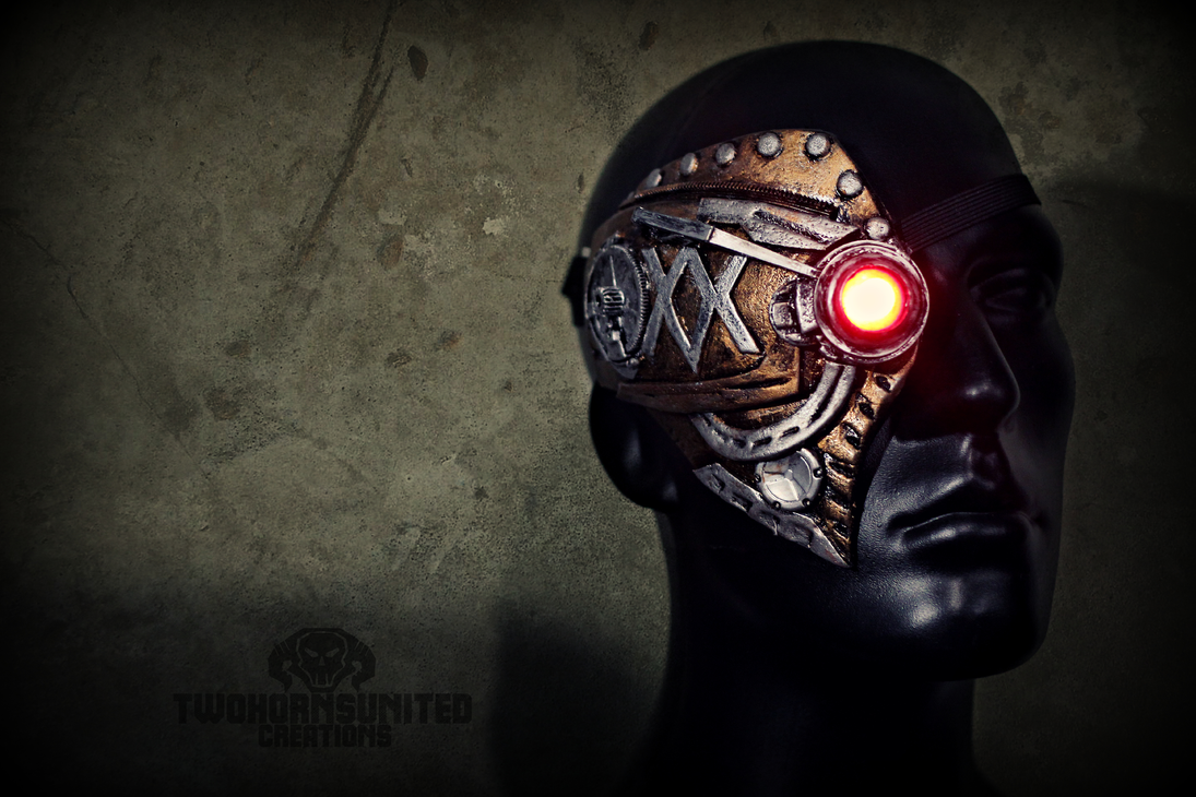 Steampunk mechanical eye piece by TwoHornsUnited