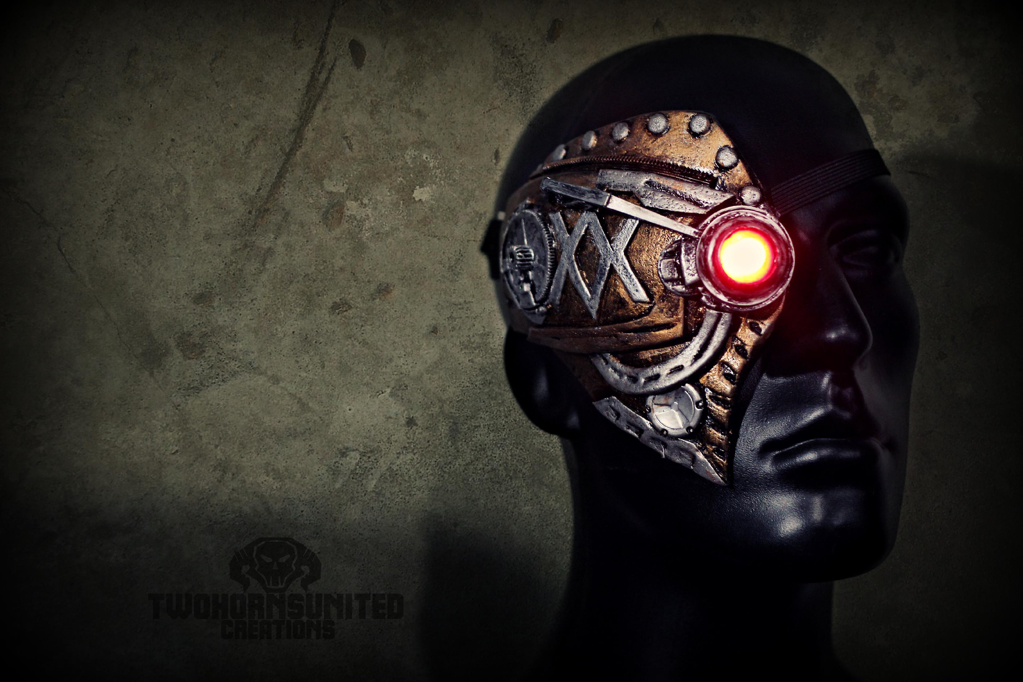 Steampunk mechanical eye piece by TwoHornsUnited