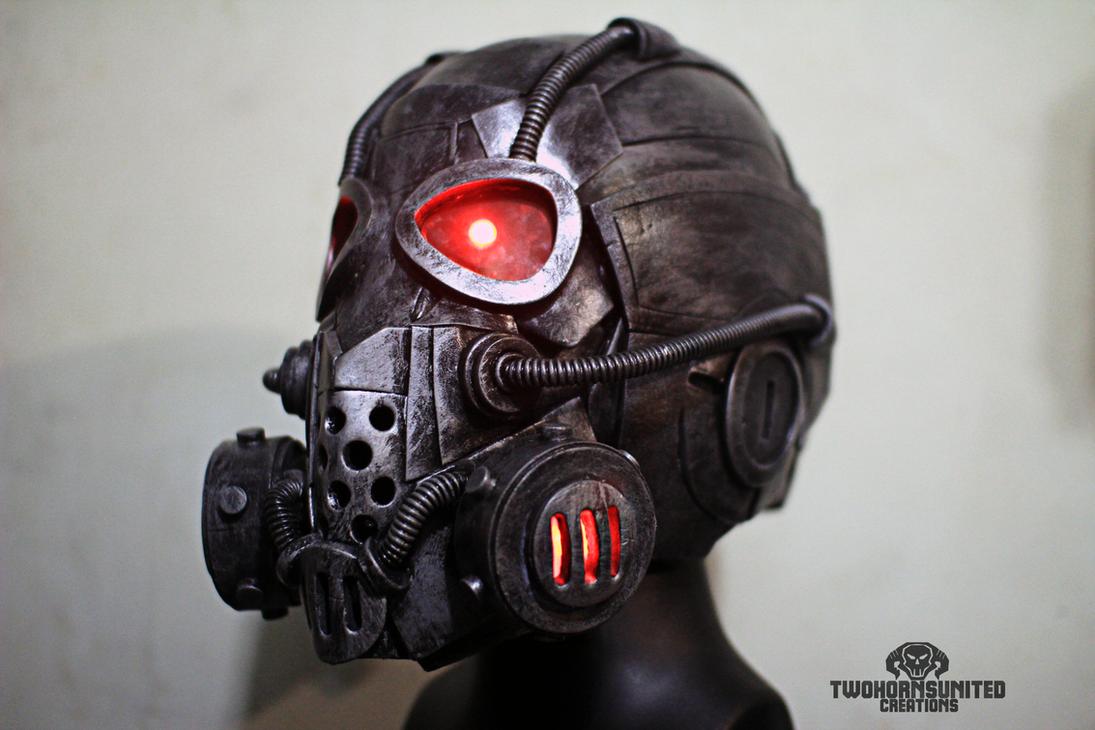 The Corruptor Cyber Tech gas mask helmet by TwoHornsUnited