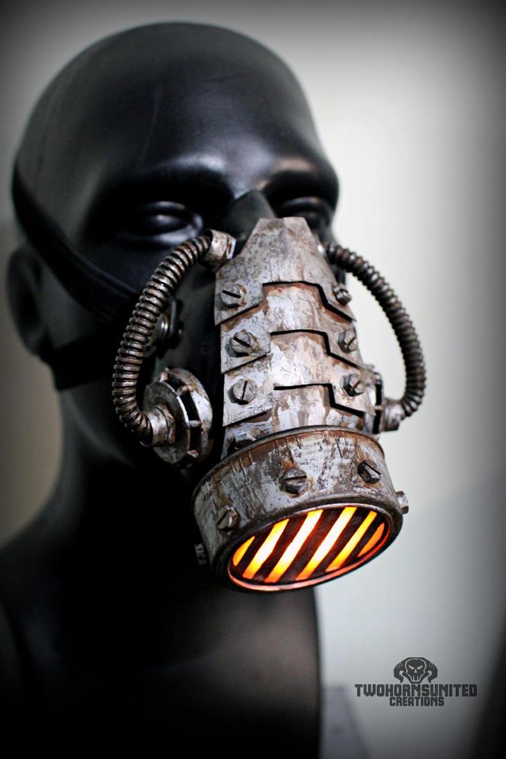 The incinerator wasteland version - LED respirator by TwoHornsUnited
