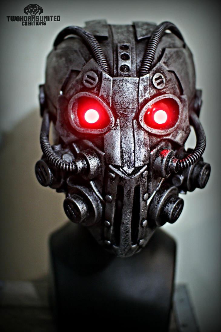 The Integrator - Illuminated Cyberpunk mask by TwoHornsUnited