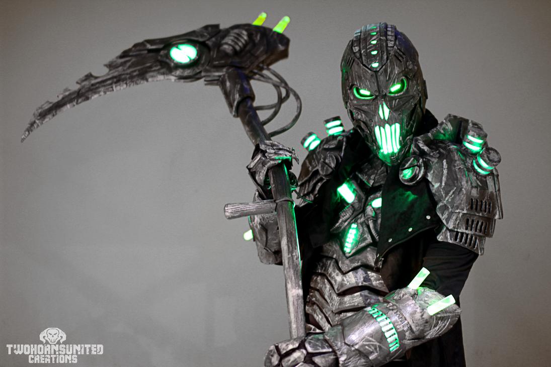 The Electromancer Full light up cyberpunk costume. by TwoHornsUnited