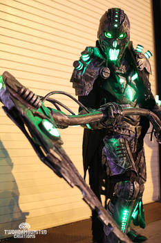 The Electromancer Full light up cyberpunk cosplay