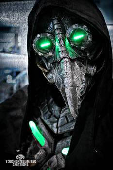 Plague knight -  LED cyberpunk plague doctor mask by TwoHornsUnited