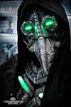 Plague knight -  LED cyberpunk plague doctor mask