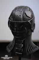 The Nullifier cyberpunk helmet - back by TwoHornsUnited