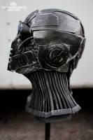 The Nullifier cyberpunk helmet - side by TwoHornsUnited