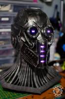 The Nullifier Cyberpunk helmet v1.5 by TwoHornsUnited
