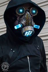 Cyanochrist - Cyberpunk Dystopian light up mask