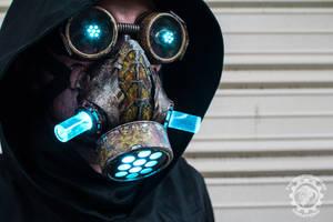 Cyanochrist - Cyberpunk Dystopian light up mask by TwoHornsUnited