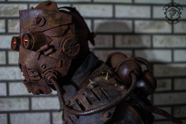 The Operator - lightup Wasteland mask w/ back tank by TwoHornsUnited