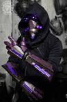 The summoner - light up cyberpunk gauntlets + mask