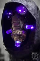 The summoner - light up cyberpunk mask by TwoHornsUnited