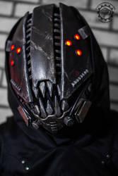 The Glitch Mk IV cyberpunk movable jaw mask by TwoHornsUnited