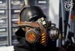 The Bioripper - Steampunk LED mask/head piece