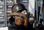 The Bioripper - Steampunk LED mask/head piece
