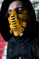 Xenogeist cyberpunk mask - yellow by TwoHornsUnited