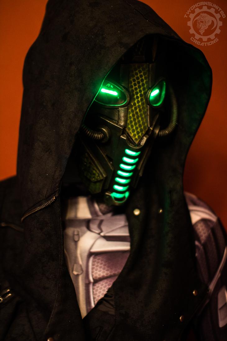 Neodragon - LED Dystopian cyberpunk mask by TwoHornsUnited