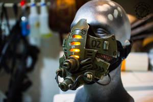 Tremor - Cyberpunk dystopian light up mask by TwoHornsUnited