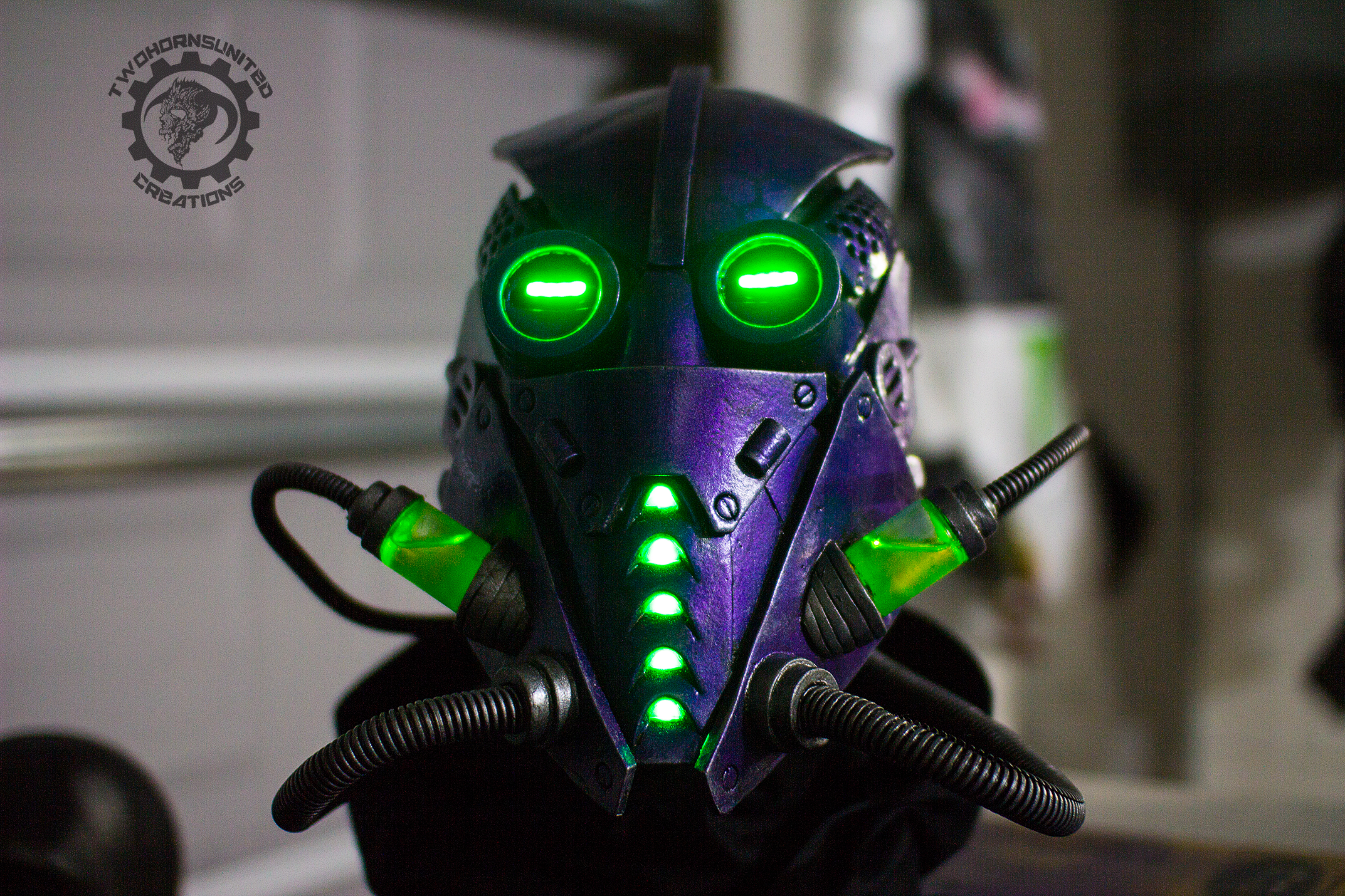 Sci Fi Fuel : The xenomancer scifi light up mask by twohornsunited on