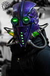 The Xenomancer scifi light up mask