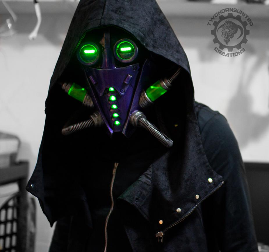 The Xenomancer Scifi Light Up Mask By Twohornsunited On