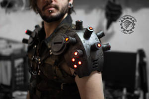 Decimator pauldrons - Dystopian Light up armor by TwoHornsUnited