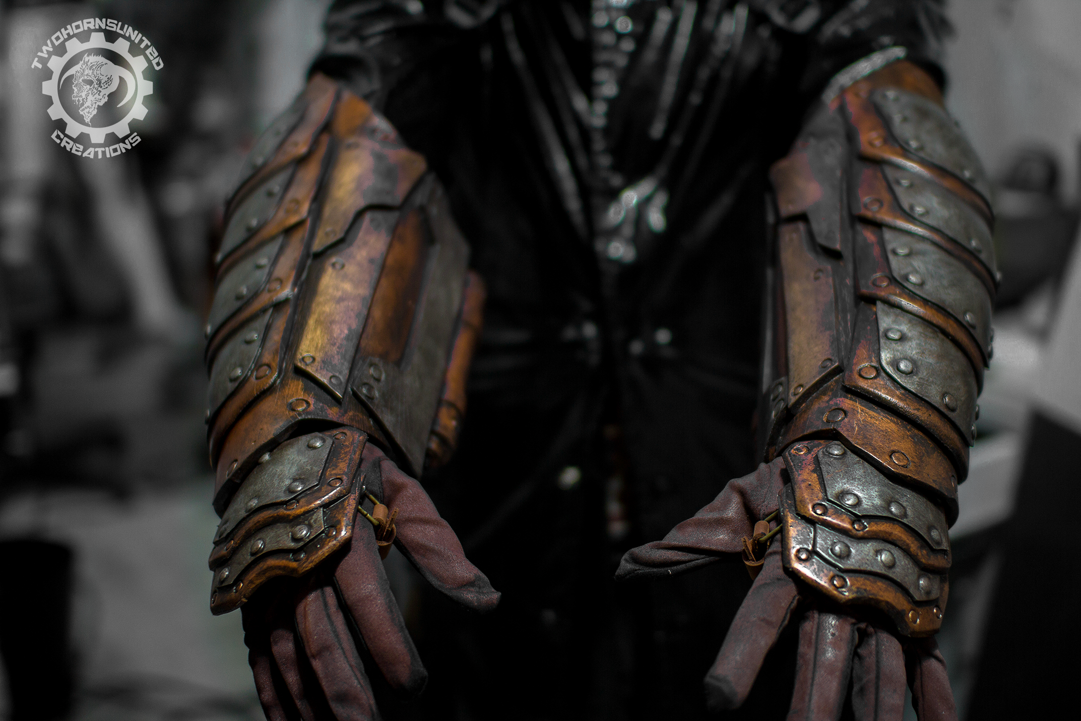 Gauntlets of the steam knight by TwoHornsUnited