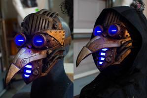 The Eternal plague Steampunk plague doctor mask by TwoHornsUnited