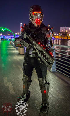The TR3-22 Security unit - LED Cyberpunk Cosplay