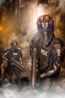 Nexialist unit 03 - light class police robot by TwoHornsUnited