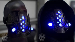 Xenogeist liquid energy v2. LED cyberpunk mask