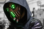 The Petrifier - Demon tech cyberpunk LED mask